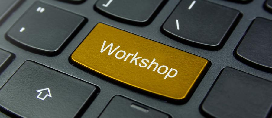 Stressmanagement Workshops für Unternehmen goldener Knopf mit Workshop Aufschrift