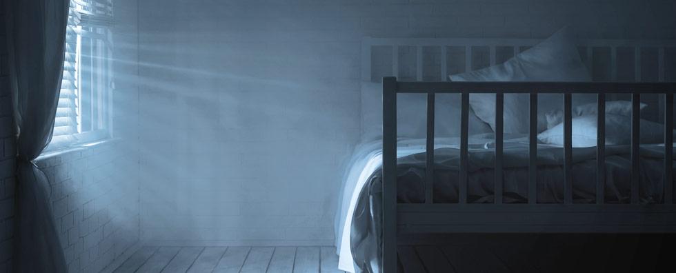 Schlaflos Stress leeres Bett